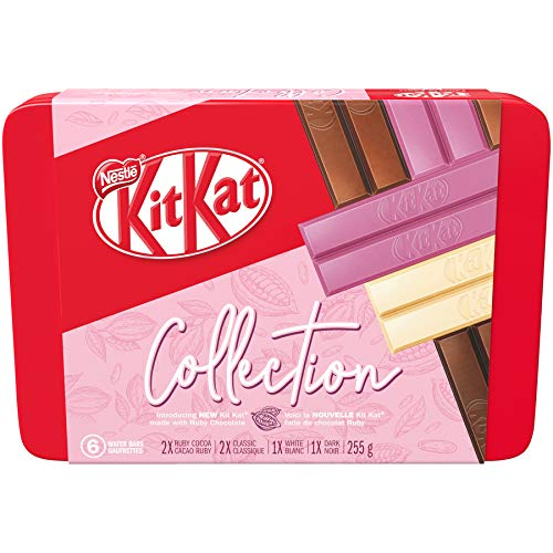 NESTLÉ KITKAT Limited Edition Collection Tin ft. KITKAT Ruby Cocoa Chocolate, 255 g (Pack of 6 bars)