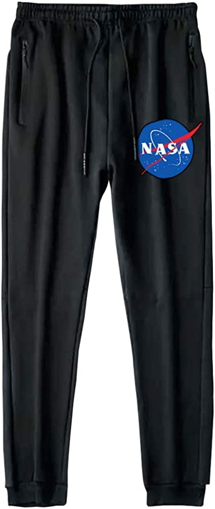 beidiyinger Men Limited Special Price Albuquerque Mall NASA Running Jogger Bottom Rise Knit Mid Closed