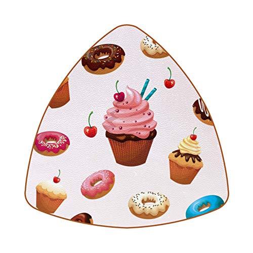 Posavasos de 6 piezas de diamante para bebidas, posavasos decorativos para tipos de tazas y tazas, deliciosos postres donuts Cake