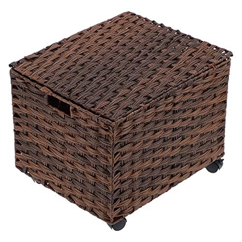 Caja de documentos, caja de archivos rodante, armario de almacenamiento con ruedas, caja de clasificación de archivos, organizador de escritorio para la oficina en casa