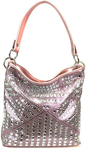 Zzfab Concealed Carry Gem Geometry Hobo Bag Pink product image