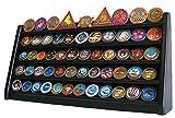 5 Rows Shelf Challenge Coin Display Stand Casino Chip Holder Rack (Black)