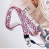 Correa para el cuello de gran calidad con estampado de colores por los dos lados, ideal para móviles, acreditaciones, llaves, USB, MP3, color Cuadrado rojo