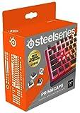 SteelSeries PrismCaps – teclas de doble inyección estilo pudding – termoplástico PBT resistente – compatible con la mayoría de teclados mecánicos – vástagos MX – negro (Configuración británica)