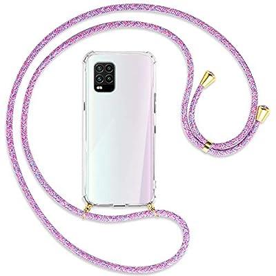 mtb more energy® Collar Smartphone para Xiaomi Mi 10 Lite 5G (6.57'') - Unicornio Morado/Oro - Funda Protectora ponible - Carcasa Anti Shock con Correa para Hombro