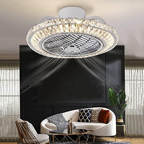 Ventilador De Techo con Luz LED 72W 3 Tonalidades Aspas Interiores Escondidas Y Protegidas 3 Velocidades Control Remoto Ultra Silencioso Ventilador Ventilador con Iluminación