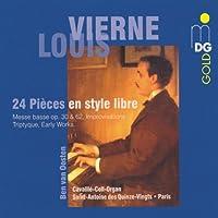 Vierne: 24 Pieces en style libre by VIERNE