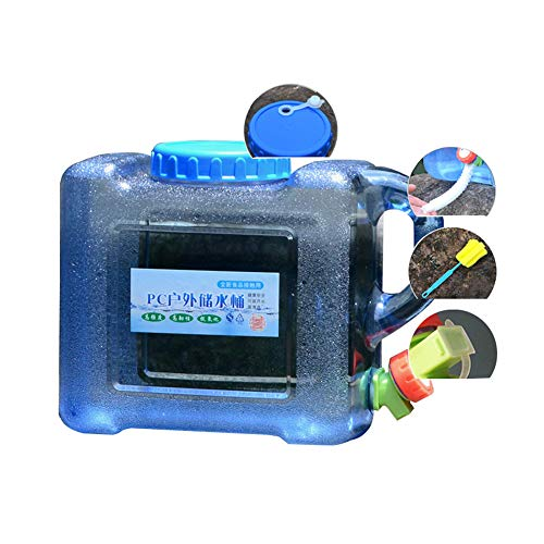 YXYXX PC portátil Bidón Tanque De Agua, Con un grifo, Se utiliza para acampar, hacer senderismo, pescar, escalar, viajar al aire libre/azul / 8L