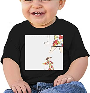 Boys' T-Shirts A Drawing of The Young Woman in Fashion Cloths Official T-Shirt