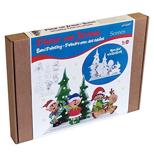 Arenart   Pack 6 Láminas de Papá Noel 40x35   para Pintar con Arenas de Colores   Manualidades Infantiles   Decoración de Navidad en Familia