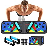 Push Up Board System, SGODDE 12 in 1 Home Gym Fitness Equipment Muscle Board Multifunctional Foldable Portable Workout Push-up Stands Body Building Exercise Tools for Men and Women