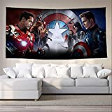 CTYKO Tapisseries Marvel Heroes Avengers Peinture Suspendue Tissu Tapisserie Décoration De...