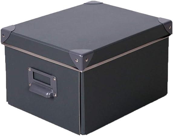 LHY SAVE Cajas De Almacenaje Decorativas Cajas De Almacenaje con Tapa Plegable Almacenamiento De CartóN Usado para Ropa, Juguetes, Calcetines,26.5 * 15.5 * 14.5cm: Amazon.es: Hogar