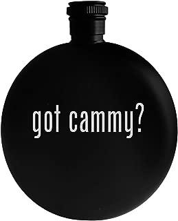 got cammy? - 5oz Round Alcohol Drinking Flask, Black