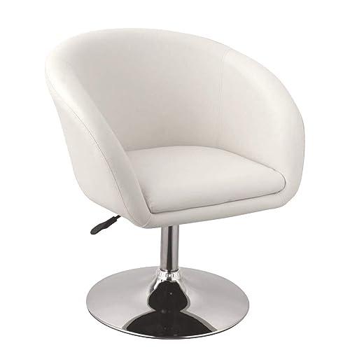 Duhome Elegant Lifestyle Fauteuil de Salon Blanc Fauteuil Club Similicuir Fauteuil Cabriolet pivotant Chaise de Salle à Manger réglable en Hauteur sélection de Couleur WY-440