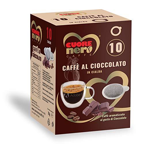 100 Cialde ESE44 Caffè Aromatizzato al Cioccolato - Cuore Nero Caffè