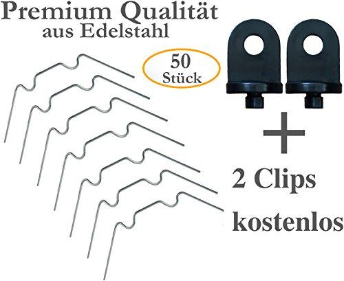 ZELSIUS Gewächshausklammern Glasklemmen Klammern für Gewächshaus 50 Stück Klips