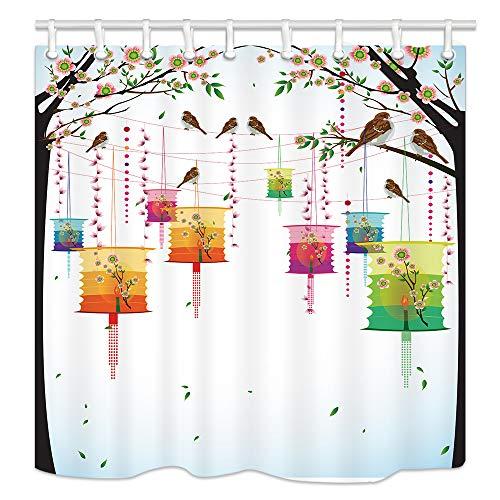 KOTOM Duschvorhänge für Badezimmer, Duschvorhang, schimmelresistenter Polyester-Stoff, tolle Dekorationen, Haken im Lieferumfang enthalten, 178 x 178 cm (Multi2) Multi4