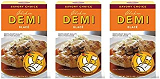 Savory Choice Chicken Demi Glace Reduction Sauce Packet 75gr (Pack of 3)