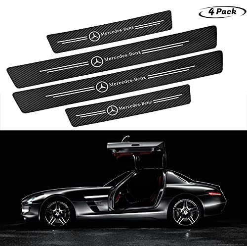 Car Door Protector Stickers, Black Carbon Fiber wear-Resistant Anti-Scratch Door Entry Guard,Suitable for Mercedes-Benz and Most Other Models