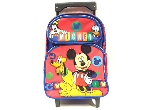 Disney New Mickey Mouse Small Toddler Rolling Backpack(2281)