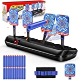 DG-Direct Upgraded Electric Scoring Auto Reset Shooting Digital Target for Nerf Guns Blaster Elite/Mega/Rival Series with 20 Pcs Refill Darts and 1 Hand Wrist Band and 1 Alternate Scoring Target.