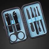 10pcs / set Manicure Nail Clippers Pedicure Set Kit portátil de higiene de viaje Kit de herramientas de corte de uñas de acero inoxidable 10pcs Blue