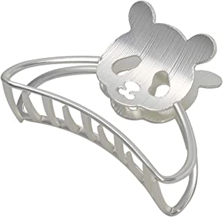 Hair Claw Clip Cute Panda Hair Accessories Barrette Hair Jaw Clamp for Shower, Makeup, Working, Sports-Silver