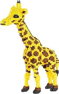 (1350 Pcs) Mini Blocks, Cartoon Yellow Giraffe Deer Stand Pet 3D Model, 1850 Pcs DIY Mini Diamond Blocks Nano Bricks Build...