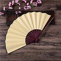1PCS中国の日本DIY無地竹大レイヴ折りたたみ手のファンイベントパーティー用品 (Color : 3)