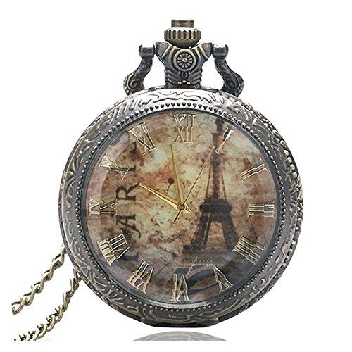 París Francia de la torre Eiffel de la mitad Hunter Bronce efecto...
