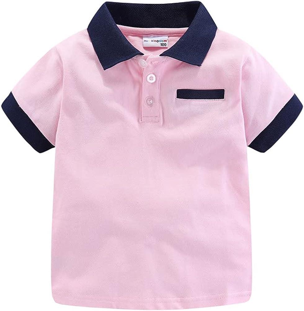 LittleSpring Little Boys Girls Polo Shirt Short Sleeve Summer Holiday