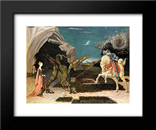 St. George and The Dragon 18x15 Framed Art Print by Paolo Uccello