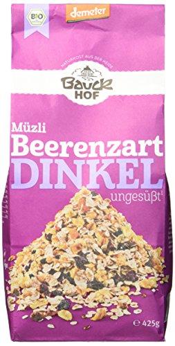 Bauckhof Dinkelmüsli Beerenzart Demeter, 4er Pack (4 x 425 g)