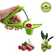 Cherry Pitter Olive Pitter - Portable Cherry Pitter Remover Cherry Pitter Tool Olive Pitter Tool Cherry Stoner Cherry Seed Remover, Stainless Creative Design by Fomei