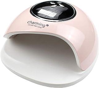 Nail Lamp Professional 60W LED UV Secador de uñas para el esmalte en gel, detección automática inteligente con función de configuración de 4 temporizadores,Pink,Battery