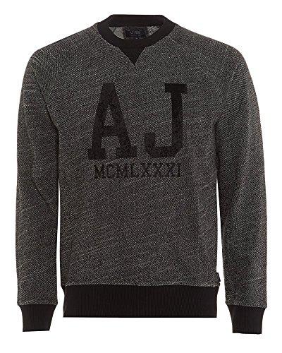 Armani Jeans Herren C6M07FZ Sweatshirt, Grau (Grigio Melange 2J), Small
