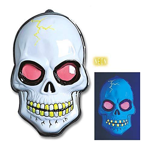 Widmann 3D cm au néon de crâne murales 38x56