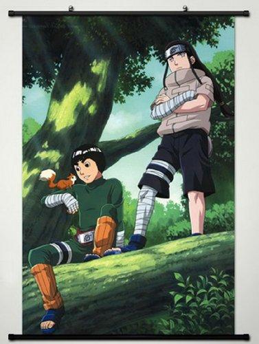 Home Decor Anime Naruto Cosplay Wall Scroll Poster Hyuuga Neji & Rock Lee 23.6 X 35.4 Inches- A426