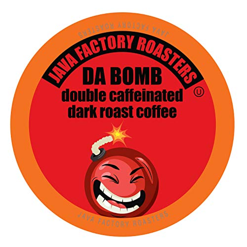Java Factory Coffee Pods High Caffeine Coffee for Keurig K Cup Brewers, Da Bomb Extra Bold Double Caffeinated, 80 Count