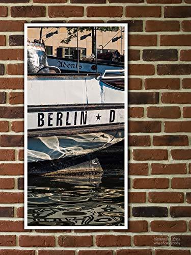 Fine Art Print auf LKW-Plane, Berlin - Historischer Hafen, 100 x 50cm