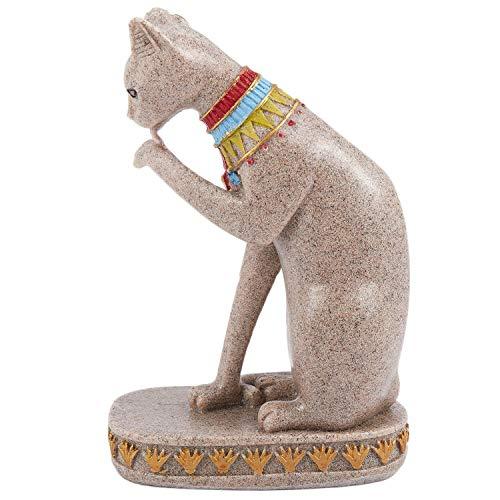 Fauge Sand Stein Bastet Statue ?gyptische Katze Gott Figur Katze Altes ?gypten Natürlichen Sand Stein Handwerk Skulptur Haus Desk Dekor A