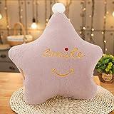 Handwärmer Neue Cloud-Crown Sterne-Form-Plüsch-weicher Sofa-Kissen-warme Handkissen-Plüsch-Spielzeug-Puppen for Kinder Baby-Kind-Mädchen-Geburtstags-Geschenke (Color : Purple Star)