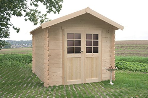 Gartenhaus Betula S8350CRO - 28 mm Blockbohlenhaus, Grundfläche: 5,04 m², Satteldach
