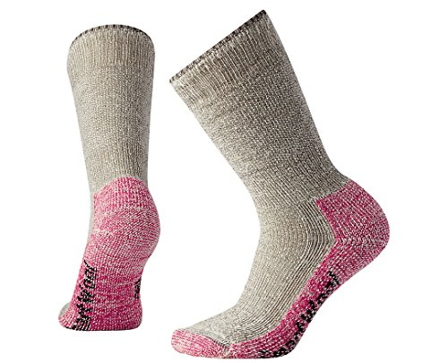 Smartwool Damen Mountaineering Extra Heavy Crew Socks, Beige (Taupe - Bright Pink), S