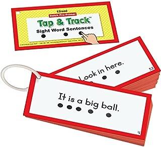 Really Good Stuff EZRead Dolch Pre-Primer Tap & Track Sight Word Sentences
