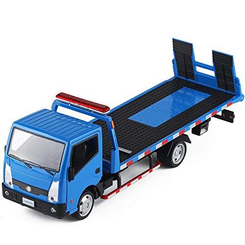 Xolye Straßenverkehr Rettung Auto-Modell 2 Farben Optional Flach LKW-Anhänger-Spielzeug-Auto-Simulation Sound and Light Pull Back Kinder Legierung Spielzeugauto aus Metall Anti-Sturz-Spielzeug-Auto-Ge
