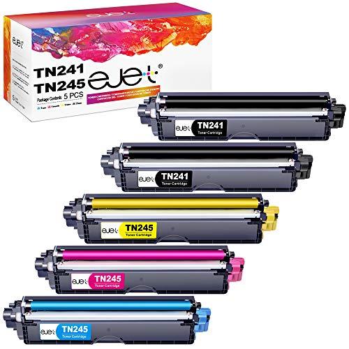 ejet Cartucce Toner Compatibili TN241 TN245 per Brother TN-241 TN-245 TN-242 TN-246 per Brother DCP-9020CDW DCP-9015CDW HL-3140CW HL-3150CDW HL-3170CDW MFC-9330CDW MFC-9140CDN MFC-9340CDW MFC-9142CDN