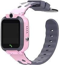 Binory Children Smart Watch Intelligent Two-Way GSM Audio Alarm LBS Tracker Smartwatch, 1.44inch Multifunction Anti-Lost Kids GPS Tracker SOS Positioning Tracking Smartphone Birthday Gift(Pink)
