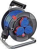 Brennenstuhl Garant Kompakt IP44 Kabeltrommel (15m Kabel, Spezialkunststoff, kurzfristiger Einsatz...